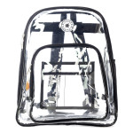 LM213<br>Deluxe 17&#34; See-through clear 0.5mm PVC backpack