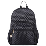 "Deluxe 17"" Quilted Laptop Backpack fits 15"" Laptop"