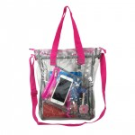 RT104<br>15.5&#34; See-through clear 0.5mm PVC Messenger Bag
