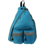 Safety Bright Color Sling Backpack Body Bag w/Reflective stipe