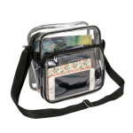 RT139<br>Clear PVC Stadium Approved Small Shoulder Bag