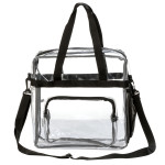 RT140<br>12 Inch Transparent Clear PVC Stadium Approved Top Handle Tote Bag
